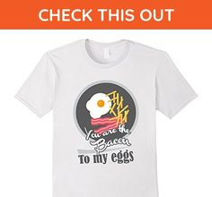 Mens Bacon To My Eggs T-Shirt ~ For the VIP in your life 2XL White - Food and drink shirts (*Amazon Partner-Link)