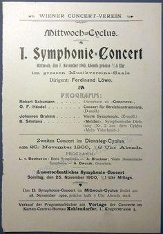Loewe, Ferdinand - Lot of 4 Playbills 1900-1901