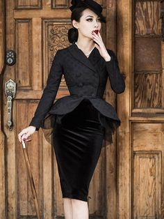 Material:Cotton; Top Length:Mid-Length; Sleeve Length:Long Sleeve; Neckline:Notched Lapel; Tops Closure:Double-Breasted; Dress Length:Knee-Length; Dress Silhouette:Bodycon; Pattern:Polka Dots