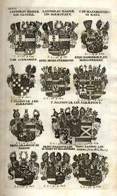 Spener, Philipp Jakob: Historia Insignium Illustrium Seu Operis Heraldici Pars Specialis. - Frankfurt <Main>, 1717. Frankfurt, Maine, Orange, House, History, Crests, Home, Haus, Houses