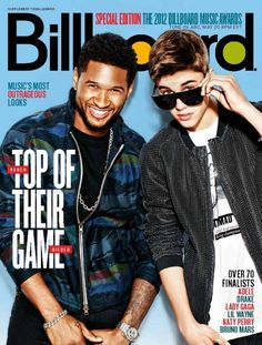 Justin Bieber & Usher Billboard Cover