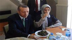 Recep Tayyip Erdogan and his daughter.