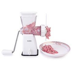 Meat Grinder - Aliskid Hand Crank Manual Meat Grinder Mincer With Powerful. Pasta Maker, Kitchen Gallery, Meat Lovers, Popcorn Maker, Kitchen Tools, Food Grade, Easy, Manual, Favorite Recipes