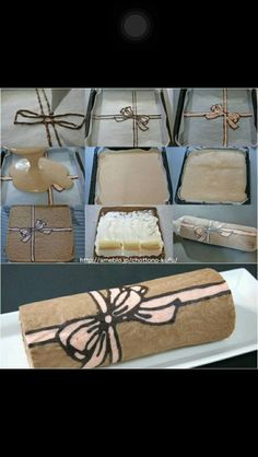 How to make this nice swiss roll type dessert! Swiss Roll Cakes, Cake Roll Recipes, Decoration Patisserie, Cake Decorating Tutorials, Cake Tutorial, No Bake Cake, Cake Designs, Amazing Cakes, Eat Cake