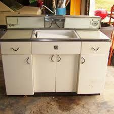 Vintage Retro English Rose Metal Kitchen Sink Unit Cabinet