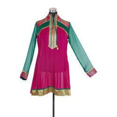 We manufacture beautiful Georgette mazanta designer Kurtis which is a popular outfit today among all women.