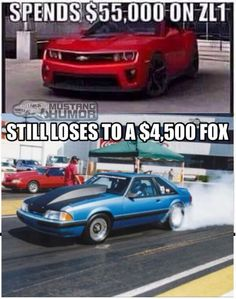 . Mustang Humor, Old Fords, Car Humor, Sexy Cars, Mustangs, Cars And Motorcycles, Chevy, Favorite Things, Fox