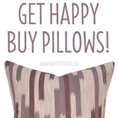 Want to put a bigger smile on that pretty face of yours? Click the link to shop our pillows!  Lots of different styles to choose from - Happy shopping! http://etsy.me/1BdJk75 Don't forget to like us on Facebook! - https://www.facebook.com/SwitchStudioCanada/?fref=ts
