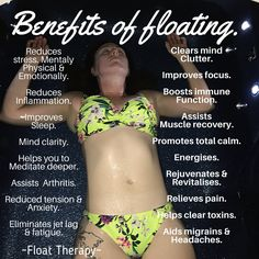 Some of the top benefits for floating :)