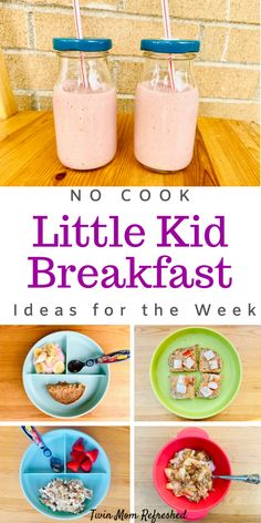 Easy Kid Breakfast Ideas Need breakfast meal ideas for kids or toddlers for the week? Get breakfast food inspiration with these easy toddler food ideas for the week that are healthy and nutritious! Easy no cook kids meals for busy mornings! Kids Cooking Recipes, Cooking With Kids, Baby Food Recipes, Healthy Recipes, Detox Recipes, Food Recipes For Kids, Food For Kids, Chicken Recipes, Healthy Toddler Meals