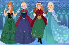 Anna and Elsa (New Dresses)
