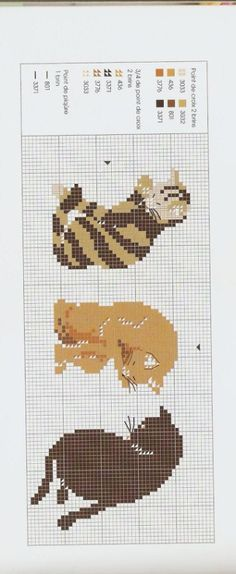 Kitty Border 2 of 3 Cross Stitch Animals, Cross Stitch Kits, Cross Stitch Charts, Cross Stitching, Cross Stitch Embroidery, Broderie Simple, Gatos Cats, Cat Quilt, Cross Stitch Pictures