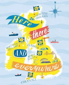 Recent work, illustrated maps by Anna Simmons. For more work please visit www.cartographic.org.uk