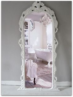 Vintage Leaning Mirror Floor Mirror by smallVintageAffair on Etsy, $699.00