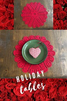 This is red circle cotton crochet placemat/napperon We have also white ones! The lace napperon made especially for wedding and Christmas! This rustic knit dolly is also suitable for anniversary, Thanksgiving, Christmas, St.Valentine, birthday, wedding, Easter, Mother's day etc... -Shop by Etsy- doillies crochet / circle placemats on table / napperon boho #bohohomedecor #countryside #farmhousedecoration #frenchcountrymodern #weddingtabledecor #thanksgiving #rustics #onlineboutique New Home Presents, New Home Gifts, Crochet Circles, Cotton Crochet, Holiday Tables, Crochet Necklace, Rustic, Boho, Placemat