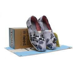 143909a08af Black-blue Coconut Trees Canvas Womens Classics. Cheap Toms ShoesToms ...