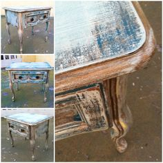Nightstand, ReincarnatedWithLove items available for sale on etsy - or contact me at elliebelly30@icloud.com, Furniture, shabby chic nightstand, funky nightstand, distressed paint, country cottage nightstand, chippy paint nightstand, chippy painted, weathered, country cottage, home decor, French apartment, farmhouse, beach house, beach house decor, refinished nightstand, beachhouse furniture, green nightstand, farmhouse furniture, farmhouse decor, garden hose turn knobs, water spigot knobs…