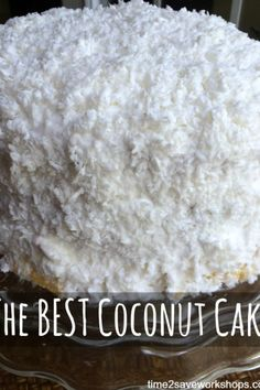 The Best Coconut Cake recipe. My grandmother's homemade Coconut Cake is the ve. - The Best Coconut Cake recipe. My grandmother's homemade Coconut Cake is the very best coconut cak - Cake Icing, Eat Cake, Cupcake Cakes, Coconut Cake Frosting, Coconut Cakes, Coconut Cake Easy, Sour Cream Coconut Cake, Lemon Cakes, Poke Cakes