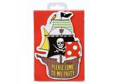 set de 10 cartons d'invitation 'Pirate Party' talking tables | shop pour enfants Le Petit Zèbre