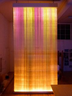 Astrid Krogh - Horizon, Optic Fiber Tapestry Interior Architecture, Interior Design, Lights Fantastic, Design Palette, Light And Space, Light Effect, Light Installation, Design Museum, Fibre