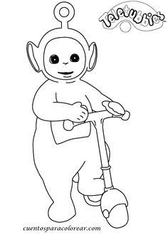 dibujos de los teletubbies para  colorear y pintar para niños imprimir dibujos infantiles