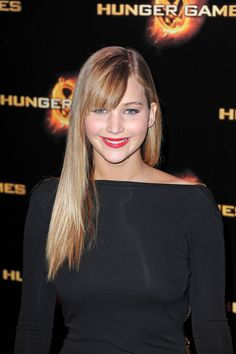 Jennifer Lawrence Long Straight Cut with Bangs
