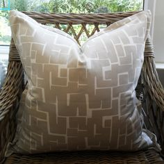 Grey Squares Scatter Cushion with Oxford Edge Available including or excluding feather and down inner and in various sizes Cotton - Cold Wash Lead time +- Scatter Cushions, Throw Pillows, Indoor, Boutique, Grey, Interior, Gray, Toss Pillows, Decorative Pillows