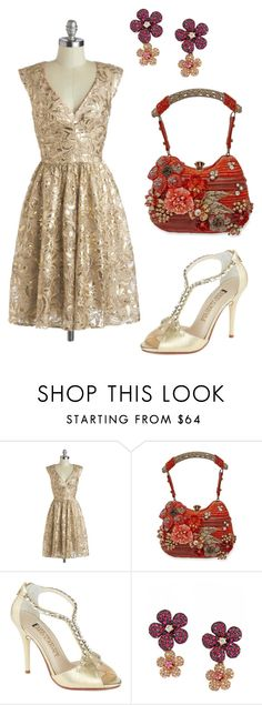 """""""Red & Gold"""" by mrs-ginger-boss ❤ liked on Polyvore featuring Mary Frances Accessories, E! Live From The Red Carpet and Effy Jewelry"""