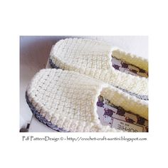 Crochet Loafers for big girls. And boys too! Crochet-soles attached as last. Pattern.