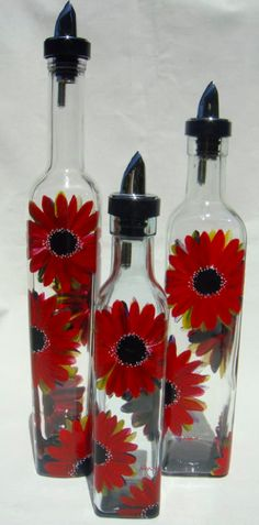 Glassware hand painted by Lisa Ryman