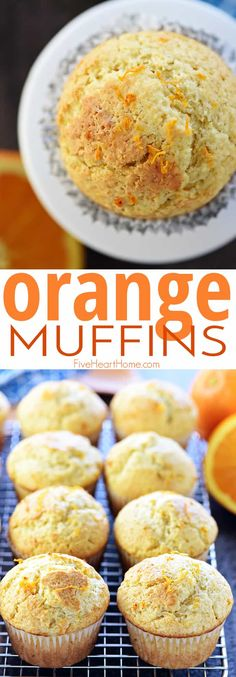 Tender, lovely, and easy to make from scratch Orange muffins! This is a tried and true recipe with delicate flavors of vanilla and citrus from fresh orange juice and zest! Save this absolutely delicious breakfast or snack recipe! Muffin Recipes, Brunch Recipes, Baking Recipes, Real Food Recipes, Breakfast Recipes, Juice Recipes, Orange Juice Cake, Pumpkin Juice, Simple Muffin Recipe