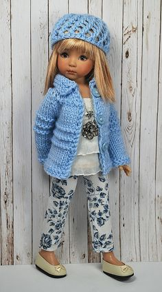 doll sweater & hat