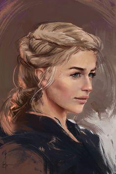 ArtStation - Daenerys Targaryen, Joshua Esmeralda