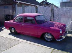 Pink VW Notchback