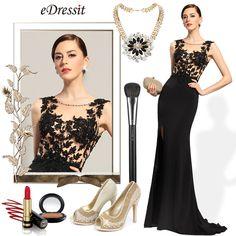 eDressit Ärmellos Shwarz Abendkleid Formal Kleid (02153400)