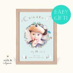 絵本風 ベビーポスター 男の子用【オーダー命名書】 Baby Pictures, Baby Photos, Baby Posters, Scrapbook Albums, Baby Design, Baby Gifts, Invitations, Creema, Frame