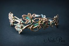FREE metal clay project tutorial. Art Clay Copper Ivy Bracelet made by Metal Clay Maker, Nicola Beer.
