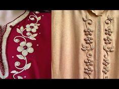 لاول مرة طريقة جديدة في الطرز المفنوخ مع ام عمران-tarz rbati-embroidery - YouTube