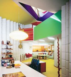Love the coloured ceiling bits