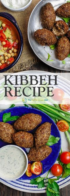 Kibbeh Recipe Tutorial | TheMediterraneanDish.Com. Kibbeh are more than meatballs; they are Middle Eastern croquettes made of bulgur wheat, ground beef or lamb, onions, pine nuts and earthy Middle Eastern spices. They can be fried or baked for the perfect