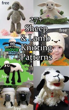 Sheep and Lamb Knitting Patterns with many free patterns