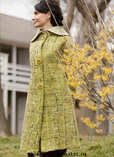 Купить Эксклюзивное весеннее пальто Coco Spring- - эксклюзивное пальто, зеленое пальто, зелень, весна