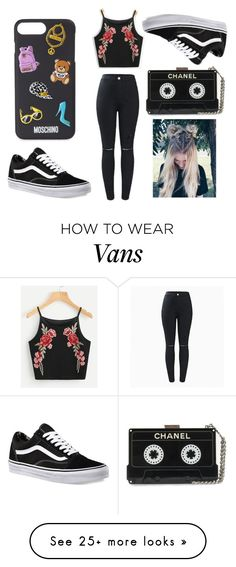 """Vans are cool"" by mihaela034429 on Polyvore featuring Vans and Moschino"
