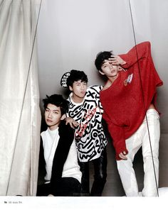 Ravi, Hyuk, Leo ♡ #VIXX // Ceci Magazine January Issue '14
