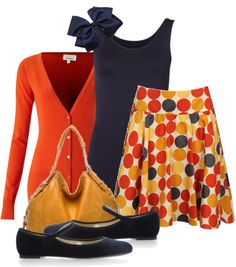 """Untitled #99"" by smitchr on Polyvore... Yes I am that teacher wearing polka dot skirts!"