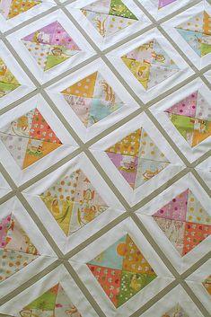 Urban Lattice quilt top   by freshlypieced