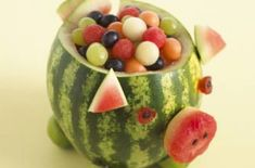 Kids' party food ideas - Watermelon pig - goodtoknow
