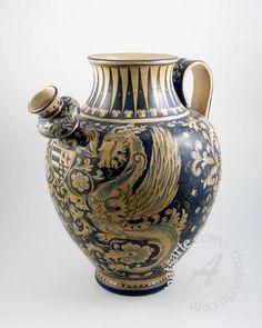 Handpainted Italian Ceramic Orcio (Urn)