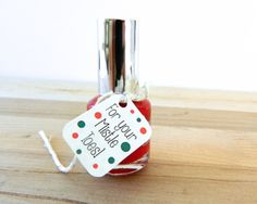 Nail Polish Tags and Twine, For Your Mistle Toes, 12 Colored Nail Polish Favor Labels, Gift Card, Paper Goods, For Your Mistle Toes! op Etsy, 5,20 €
