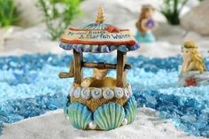 Miniature Dollhouse FAIRY GARDEN ~ Sea Life Wishing Well ~ NEW